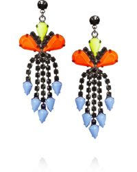 Tom Binns - Electro Clash Nova Painted Swarovski Crystal Earrings - Lyst