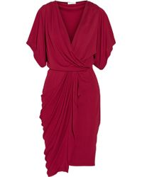 Vionnet Wrapeffect Jersey Dress - Lyst