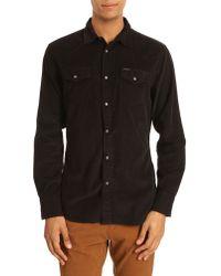 Diesel S-Darra Black Velour Shirt - Lyst