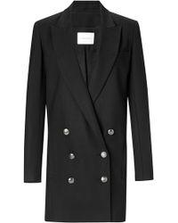 Balmain Black Viscose Double Breasted Blazer black - Lyst