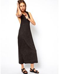 Asos Maxi Dress with Drop Armhole and Stud Detail - Lyst