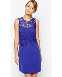 Oasis 2 in 1 Lace Dress - Lyst