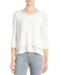 Sanctuary | 'michelle Mash Up' Tiered Knit Top | Lyst