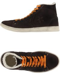 Converse High-Tops & Trainers brown - Lyst