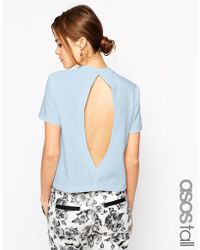 Asos Tall Open Back Shell Top - Lyst