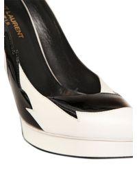Saint Laurent - 130mm Janis Patent Leather Court Shoes - Lyst