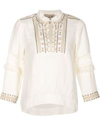 Sea | Embroidered Peasant Top | Lyst