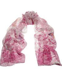 Emilio Pucci Printed Silk-Chiffon Scarf - Lyst