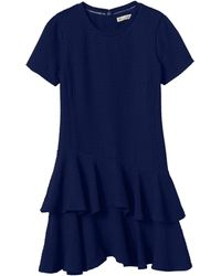 Rebecca Taylor | Short Sleeve Pucker Jacquard Dress | Lyst