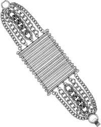 Sam Edelman Multi Row Chain Bracelet - Lyst