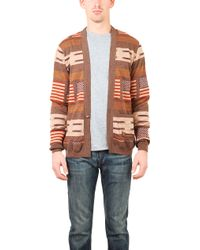 Remi Relief Wool Native Boarder Cardigan - Lyst