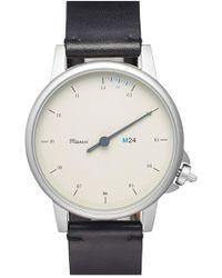 Miansai - 'm24' Round Leather Strap Watch - Lyst