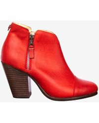Rag & Bone Margot Double Zip Bootie Red - Lyst