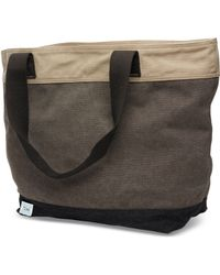 TOMS - Charcoal Blocked Canvas Transport Tote - Lyst