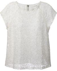 Alice + Olivia Beaded Lace Tshirt - Lyst