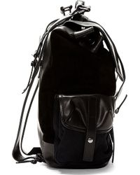 Damir Doma - Black Leather And Suede Rucksack - Lyst