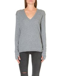 Enza Costa Thumbhole-detail Knitted Jumper - Lyst