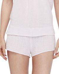 Xirena Shaw Cotton Gauze Lounge Shorts - Lyst