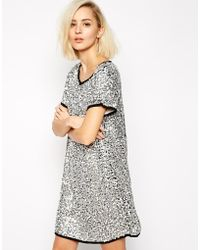 Goldie Outsider Dress With Sequin Detail - Lyst