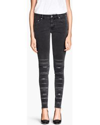 H&M Skinny Low Jeans - Lyst