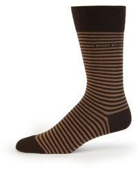 Boss by Hugo Boss Brian Striped Socks brown - Lyst