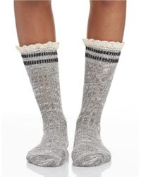 Free People Rugby Ankle Socks - Lyst
