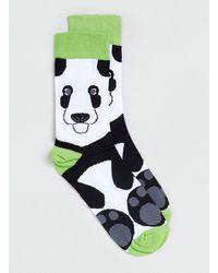 Topman Panda Face Socks - Lyst