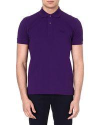 Hugo Boss Logo Polo Shirt Purple - Lyst