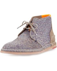 Paul Smith Jupiter Leopard-print Chukka - Lyst
