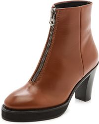 Acne Studios Elise Zip Booties  Brown - Lyst