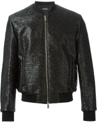 DSquared² Lacquered Bomber Jacket - Lyst