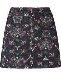 MSGM | Printed Jacquard Mini Skirt | Lyst
