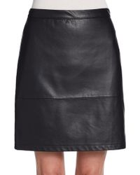 French Connection Athena Faux Leather Skirt - Lyst