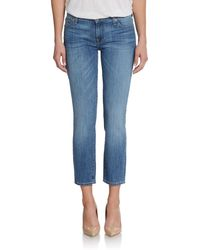 7 For All Mankind Roxane Cropped Skinny Jeans - Lyst