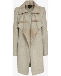 Exclusive For Intermix - Cedric Double Faced Plaid Coat - Lyst