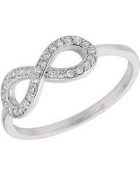 Morris & David - Diamond And 14k White Gold Infinity Ring - Lyst