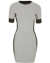Topshop Geometric Panel Bodycon Dress - Lyst