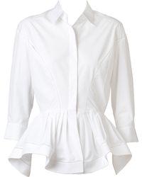 Alaïa | Peplum Waist Shirt | Lyst