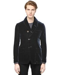 Giorgio Armani Viscose Velvet Jacket - Lyst