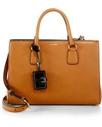 Dolce & Gabbana Clara Textured-Leather Satchel - Lyst