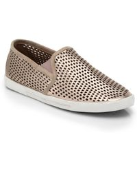 Joie Kidmore Perforated Metallic Leather Skate Shoes - Lyst