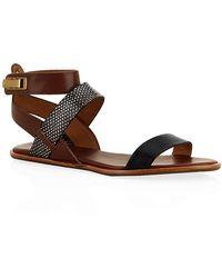 Aerin - Sienna Leather Sandal - Lyst