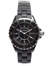 Chanel Pre-Owned Black J12 Watch black - Lyst