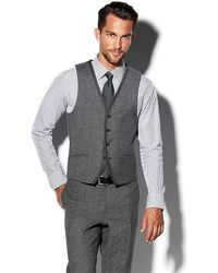 Vince Camuto Notch Grey Vest - Lyst