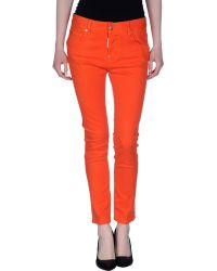 DSquared² Denim Trousers orange - Lyst