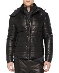 Vince Quilted Leather Puffer Jacket - Lyst