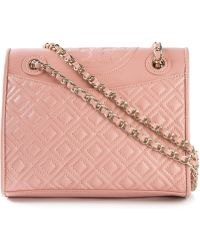 Tory Burch Quilted Cross Body Bag - Lyst