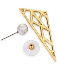 Joomi Lim - Vertigo Geometric 16Kt Gold-Dipped Earrings - Lyst