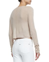 Alice + Olivia Ribbed Knit Crop Top - Lyst