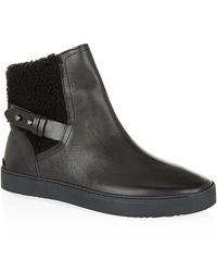 Rag & Bone Farling Leather And Shearling Boot - Lyst